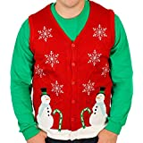 Lighted Winter Wonderland Sweater Vest with LED Lights - Ugly Christmas Sweater