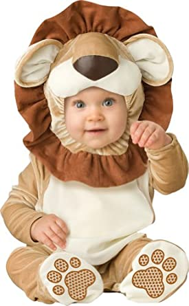 InCharacter Unisex-baby Infant Lovable Lion Costume, Brown/Tan/Cream, Medium