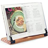 Deluxe Large Cookbook Holder with Cherry Base