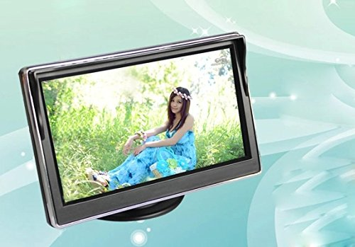5 Inch Tft Lcd Car Monitor Car Rearview Monitor For Security Backup Parking