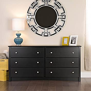 Metro Shop Broadway Black 6-drawer Dresser