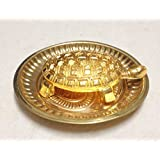 Feng Shui Metal Turtle With Goldon Color Plate Tortoise For Good Luck