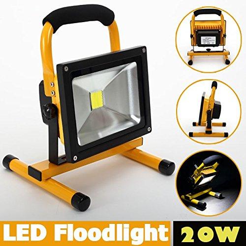 Roilois-20W-LED-Akku-Lampe-Strahler-Baustrahler-mit-2-Lichtstrke-Stufen-und-erhhter-Akku-Kapazitt-bis-zu-8-Stunden-leuchten-IP65-Wasserdichtgelb
