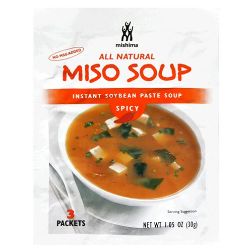 Mishima Instant Soup Mix, Spicy Miso, 1.05-Ounce Packets (Pack of 12)
