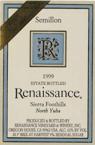 1999 Renaissance Vineyard Late Harvest Semilion 500 Ml