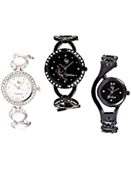 CB Fashion Combo Of Analog Multicolour Dial Women's Watch (RW217)