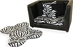 Fantasy Furniture Deluxe Orthopedic Memory Foam Dog Bed Set, Medium, Zebra