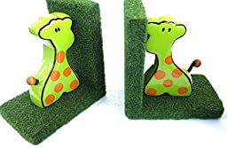 Christmas Gift, Giraffe, Bookends, Decor, Home, Nursery, School, Library, Size 11\