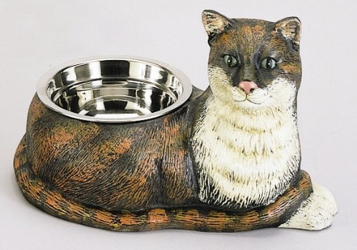 Cast Iron Cat Shaped Dish with Stainless Steel Food Bowl