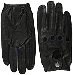 Original Penguin Men\'s Sheepskin Driving Gloves, Black, Medium