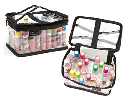 Best Cheap Deal for Seya Clear PVC Makeup Cosmetic Organizer Bag - Fits 24 Lipsticks from Seya - Free 2 Day Shipping Available