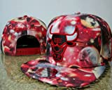 NFL Mitchell and Ness the Chicago Bulls Galaxy Snapbacks in Pink