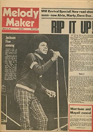 Melody maker michael jackson five marty wilde dave dee for Maker jackson