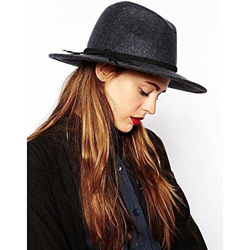 Amazon.co.jp: (エイソス) ASOS レディース 帽子 ハット ASOS Grey Marl Braid Felt Fedora Hat 並行輸入品: 服&ファッション小物通販