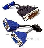 Dell Molex DMS-59 pin Dual VGA Y-Splitter Cable, Refurbished G9438