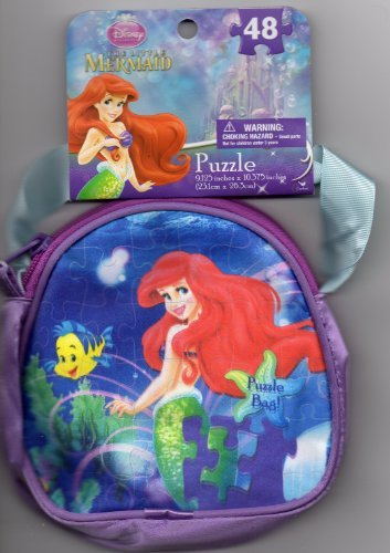 "The Little Mermaid Disney Princess Ariel Puzzle Bag 48 Pieces (9.125"" X 10.375"")"