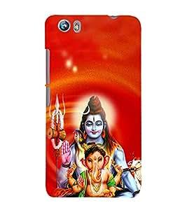 Ganeshvara 3D Hard Polycarbonate Designer Back Case Cover for Micromax Canvas Fire 4 A107