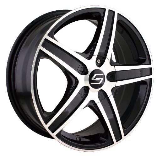 Sacchi S48 (248) (Black w/ Machined Face) Wheels/Rims 5x100/105 (248