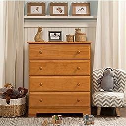DaVinci Kalani 4 -Drawer Dresser - Honey Oak