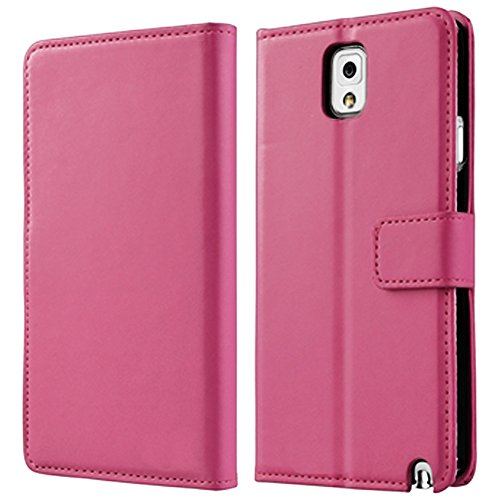 Mylife Light Rose Pink {Luxury Smooth Texture Design} Faux Leather (Card, Cash And Id Holder + Magnetic Closing) Slim Wallet For Galaxy Note 3 Smartphone By Samsung (External Textured Synthetic Leather With Magnetic Clip + Internal Secure Snap In Closure