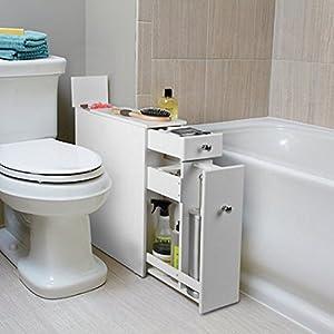 2 ft tall white slim standing bath cabinet organizer. Black Bedroom Furniture Sets. Home Design Ideas