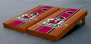 New Mexico State Aggies Cornhole Game Set Stained Wooden Version by Gameday Cornhole
