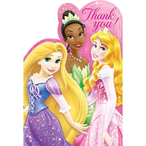 Disney Princess 'Princess Sparkle and Shine' Thank You Notes w/ Envelopes (8ct)