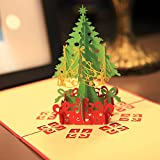 Hestio 3D Pop Up Holiday Greeting Card Christmas Tree Creative Gifts
