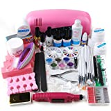 Generic All In One 9W UV Gel Lamp Electric Drill 6 Bits Nail Art Polish Kit