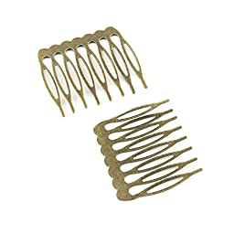 50pcs Jewelry Making Charms Jewellery Charme Antique Brass Tone Fashion Finding for Necklace Bracelet Pendant Earrings Repair DIY W6WW1 Hair Comb