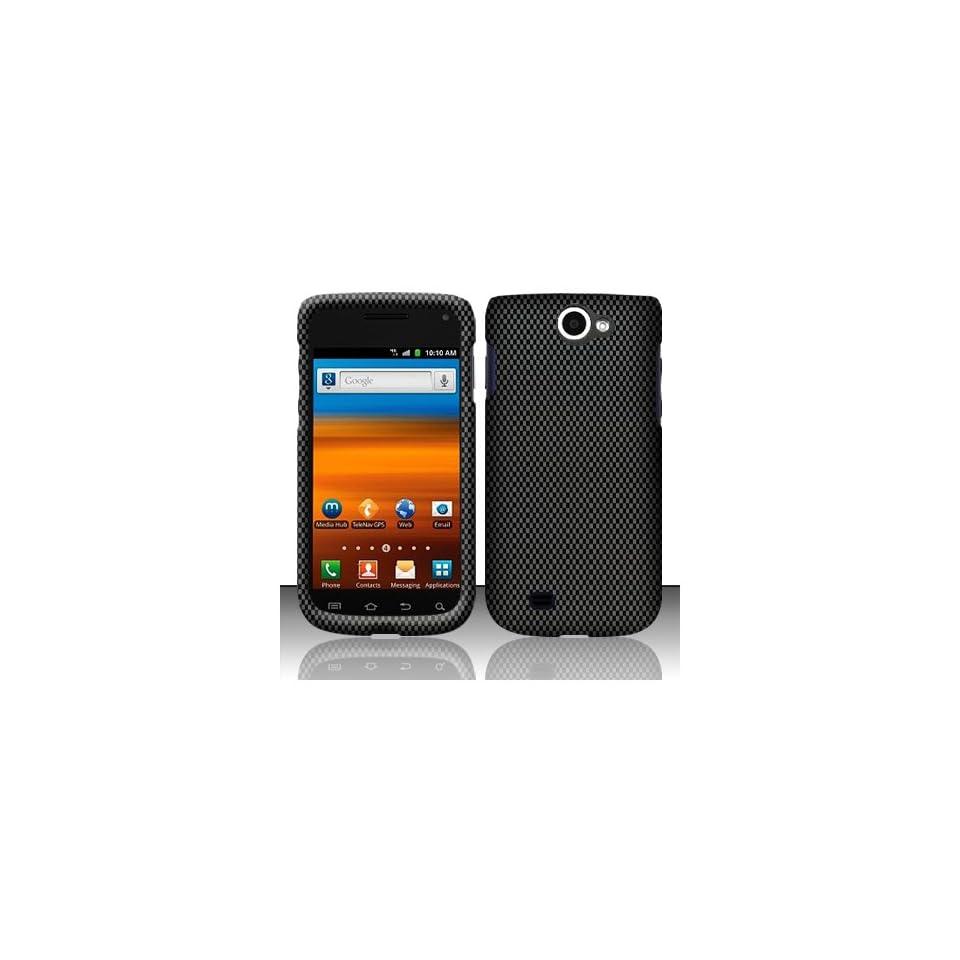 Black Carbon Fiber Hard Cover Case for Samsung Galaxy Exhibit 4G SGH T679