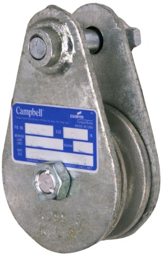 Campbell 7339765 Drop Side Steel Snatch Block, Galvanized Zinc, 8000 lbs Load Capacity, 4-1/2