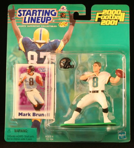 MARK BRUNELL / JACKSONVILLE JAGUARS 2000-2001 NFL Starting Lineup Action Figure & Exclusive NFL Collector Trading Card - 1