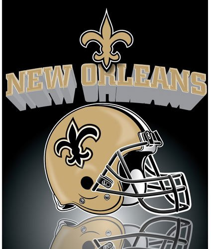 "New Orleans Saints Light Weight Fleece Nfl Blanket (Grid Iron) (50X60"")"" front-933327"