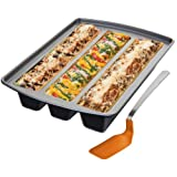Chicago Metallic Lasagna Trio Pan, 12-Inch by 15-Inch by 3-Inch (11-1/2-Inch by 2-1/2-Inch Cavities) ~ CHICAGO METALLIC