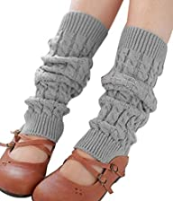 Ninimour- Winter Warm Leg Warmers Knitted Crochet Long Socks