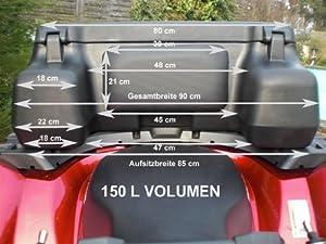 TOP CASE 150L POUR QUAD ATV COFFRE PORTE BAGAGE VALISE