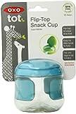 OXO Tot Flip-Top Snack Cup, Aqua, 5 Ounce