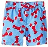 Little Me Baby-Boys Infant Lobster Swimtrunks, Blue Print, 24 Months