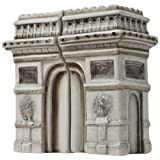 Westland Giftware Magnetic Ceramic Salt And Pepper Shaker Set, Mwah Arc De Triomphe, 4-Inch, Set Of 2