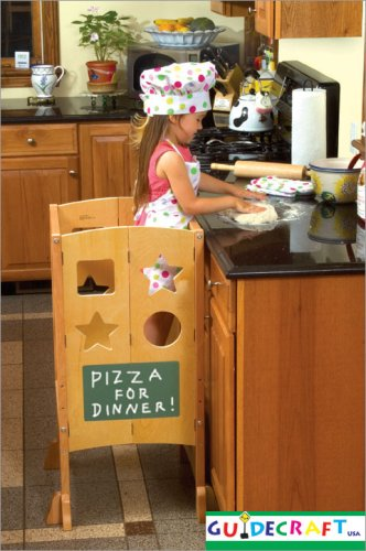 Guidecraft All Grown Up Kitchen Helper Step Stool