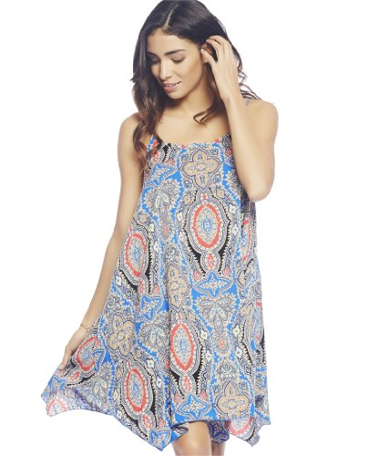 Wet Seal Women's Hanky Hem Slip Dress M Multi Colored