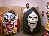 "SCARY CLOWN 5 ft Face Wall Mount Halloween PropSPLAY ""FREE SHIP"""