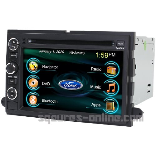 2006-2010 Ford Explorer 2007-2011 Ford Sport Trac 2007-2012 Ford Expedition In-Dash Dvd Gps Navigation Stereo Bluetooth Hands-Free Steering Wheel Controls Touch Screen Ipod Iphone-Ready Deck Av Receiver Cd Player Video Audio Navi Radio Square-S Ss-9080Fx