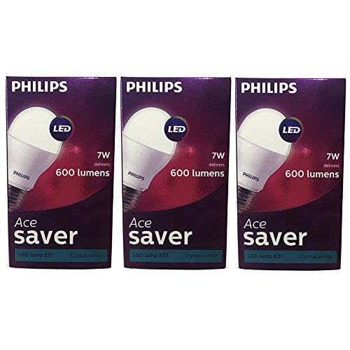 7W E27 570L LED Bulb (Cool Day Light, Pack of 3)