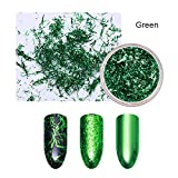 1 Box Colorful Nail Strip Metal Wire Line Matte Mirror Flakies Gel Nail Art 3D Nail Decoration Green (Color: Green)