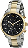 "SO&CO New York Men's 5004.4 ""Monticello"" Stainless Steel Two-Tone Watch by SO&CO MFG"