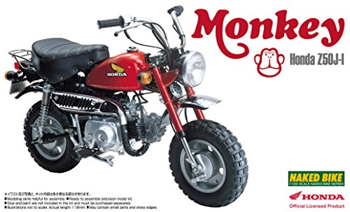 "Aoshima 1/12 Honda ""Monkey"" Motorbike"