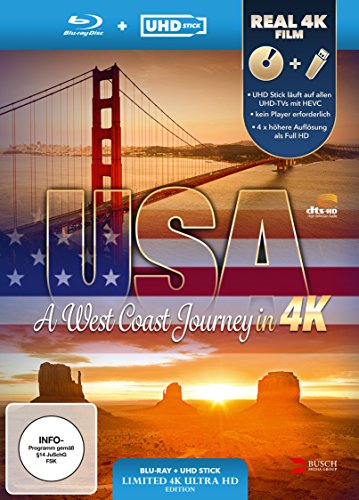 USA A West Coast Journey UHD Stick in Real 4K Blu ray Limited Edition Edizione Germania PDF