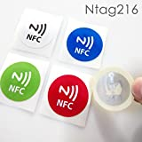 #6: NFC House Ntag216 NFC Tag High memory Sticker 30 mm Round with nfc icon printed (Set of 5)